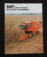 1976 MASSEY FERGUSON MF 750 760 MF750 MF760 COMBINE CATALOG SALES BROCHURE NICE