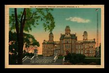 DR JIM STAMPS US HALL OF LANGUAGES SYRACUSE UNIVERSITY NEW YORK VIEW POSTCARD