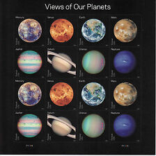 VIEWS OF OUR PLANETS STAMP SHEET -- USA FOREVER 2016 SPACE
