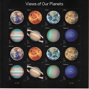 VIEWS OF OUR PLANETS STAMP SHEET -- USA #5069-#5076 FOREVER 2016 SPACE