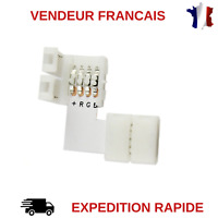 CONNECTEUR D'ANGLE POUR STRIP LED RGB 5050 SANS SOUDURE / RUBAN LED