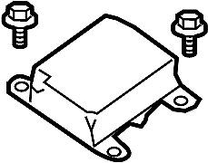 Nissan/INFINITI 98820-ZL19A Air Bag Control Module.