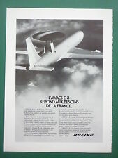 11/1982 PUB AVION BOEING AWACS E-3 RADAR STRIDA II ARMEE DE L'AIR FRENCH AD
