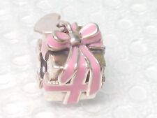 New Authentic Pandora All Wrapped Up Pink Enamel Present Gift Charm 791132EN24