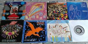 """8  X Kool & The Gang  7"""" Singles. All Vinyl Excellent  7 Picture Sleeve"""