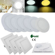 9W 12W 15W 18W 21W Dimmable Recessed LED Ceiling Panel Light DownLight Lamp RA