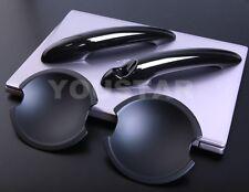 US STOCK Combo Two Tones BLACK Door Handle Covers & Cups MINI Cooper R50 R53 R56