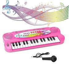 Kids Piano Keyboard 32 Keys Portable Electronic Musical Instrument Multi Pink