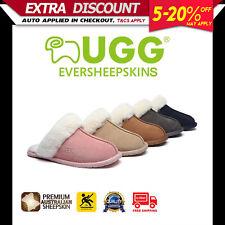 UGG Rosa Boots Unisex Slippers / Scuffs, Premium Sheepskin Upper Rubber Sole