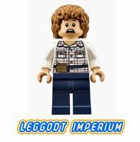 LEGO Minifigure - Gray - Jurassic World jw002 FREE POST