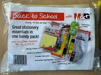 M & G Back to School Stationary Essentials Pack UK Seller Free 1st Class