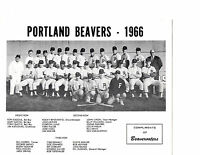 1966 PORTLAND BEAVERS TEAM PCL 8X10 PHOTO PINIELLA BASEBALL OREGON USA