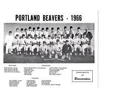 1966 PORTLAND BEAVERS TEAM PCL 8X10 PHOTO PINIELLA BASEBALL OREGON USA