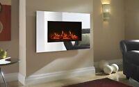 Shrewsbury LED Wall Mounted Electric Fire - Mirror