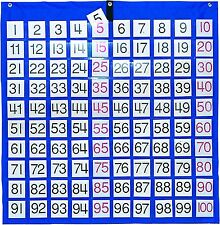 Hundreds Pocket Chart Number Cards Classroom Home Teaching Learning Kids Supply