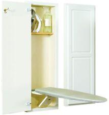 Ironing Boards Swivel Cover Center Wall Mounted White Wood Shelf Raised Panel
