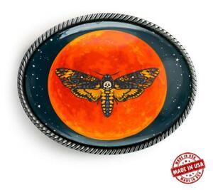 Magic Moon Celestial Alchemy Hawk Moth Handmade Artisan Belt Buckle
