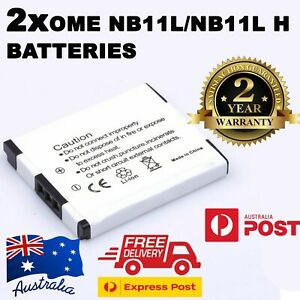 2× NB11LH NB-11L Battery  for Canon Digital IXUS 175 180 185 190 | 1000mAh