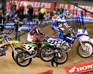 CHAD REED & JAMES BUBBA STEWART Motocross  Autographed Signed 8x10 Photo Reprint