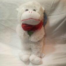 """2009/2012 Animal Pals by KUDDLE ME TOYS Kellytoy 15"""" White Monkey Stuffed Animal"""