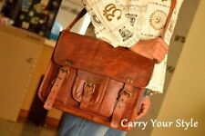 Men & women Genuine Vintage Leather Laptop Satchel Messenger Bag Shoulder bag