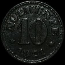 NOTGELD: 10 Pfennig 1921. H. HEYE GLASFABRIK SCHAUENSTEIN / HESSEN-NASSAU.