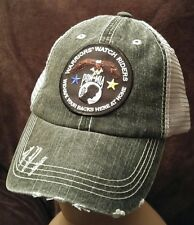 Warriors Watch Riders USA Veterans & USA Supporters Distressed Soft Mesh Hat