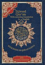 Tajweed Quran with Translation/Transliteration into English and Topic Index HB