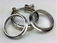 """3.0"""" V-BAND FLANGE CLAMP ASSEMBLY KIT STEEL for TURBO EXHAUST DOWNPIPE CATBACK"""