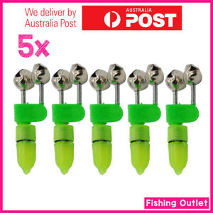 5X Fishing Bells & Fishing Light/LED, Double Rod Bite Alarm Clip