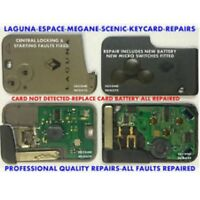 REPAIR FIX Renault Laguna Espace VI Vel Satis key card fob remote + NEW CASE