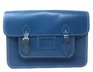 Teal Blue French Style Oxford Bag Satchel