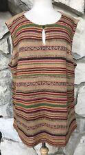 NWT $119 Ralph Lauren Women's Indian Blanket Southwest Linen Silk Sweater 3X