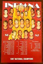 INDIANA UNIVERSITY HOOSIERS MEN'S BASKETBALL POSTER 1986-87 NCAA CHAMPS - MINT!