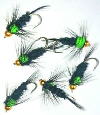 6 No. Green Montana - trout lure - size 10 LS - choose  / BARBED / BARBLESS