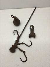 VINTAGE WROUGHT IRON HANGING SCALE