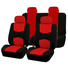 4 Color 9 Part Car Seat Covers Set for Auto w/Steering Wheel/Belt Pad/Head Rests