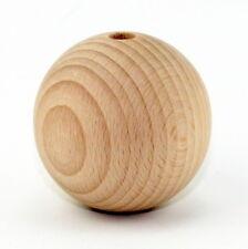10 x Buche Holzkugeln roh unbehandelt 50mm Durchmesser 8 mm Bohrung