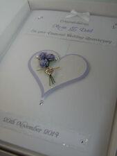 Personalised Diamond 60th Wedding Anniversary Card, Swarovski crystals, boxed