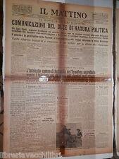4 marzo 1936 Mussolini Guerra d Etiopia Stati Uniti Tembien Cronaca Napoli di e