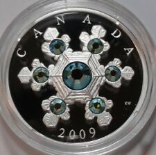 CANADA $20 DOLLARS 2009 - CRYSTAL SNOWFLAKES BLUE SWAROVSKI PROOF