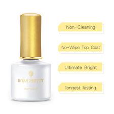 BORN PRETTY Pure Tips UV Gel Nail Polish  Black White Soak off Base Coat