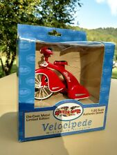 Flexible Flyer Velocipede Miniature Tricycle 1:20 Miniature Cast Metal