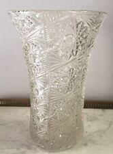 Vase En Cristal ? Verre Lourd H 24 Cm Voir Photos Contractuelles
