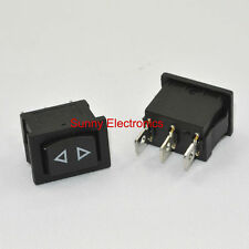 10PCS Rocker Switch Momentary (ON)-OFF-(ON) 3pins