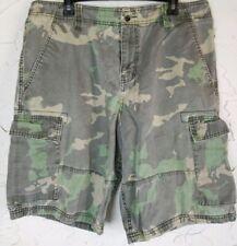 Hurley Mens Sz 36 Cargo 6 Pocket Shorts Camouflage Multicolor Vtg NICE! *M2