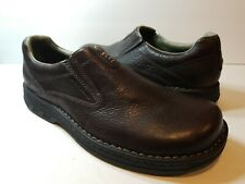 MERRELL World Legend Stollen Brown Leather Loafers Slip On Shoes - Size 11.5