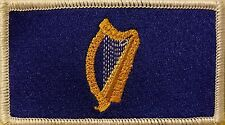 Standard President Ireland Flag Military Patch With VELCRO Brand White Border