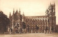 BR80305 north front westminster abbey london   uk