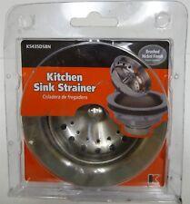 Plumb Pak 3.5-in Brushed Nickel Stainless Steel Kitchen Sink Strainer Basket